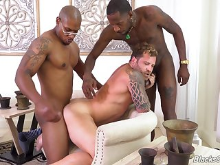 Black studs Deepdicc and Lawrence West break in new hire Riley Mitchel